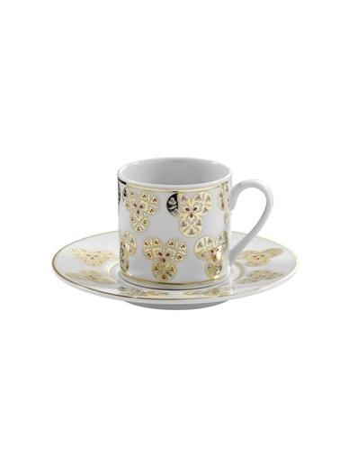 Kütahya Porselen Çintemani 9725 Desen Kahve Fincan Takımı Renkli